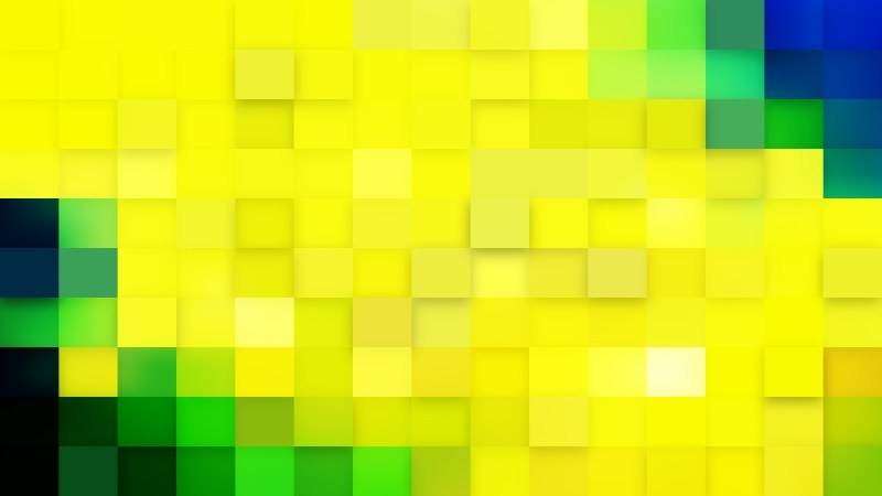 Green and Yellow Geometric Mosaic Square Background
