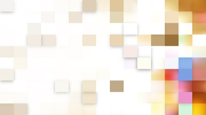 Abstract Light Color Square Mosaic Tile Background Image
