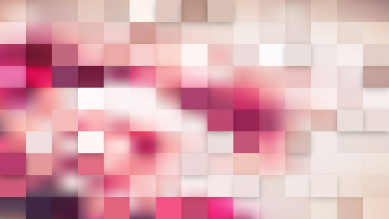 Light Pink Square Pixel Mosaic Background