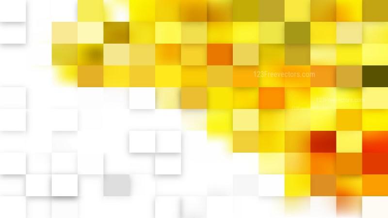 Light Yellow Square Pixel Mosaic Background Vector Illustration