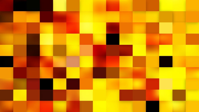 Abstract Orange Square Mosaic Background Vector