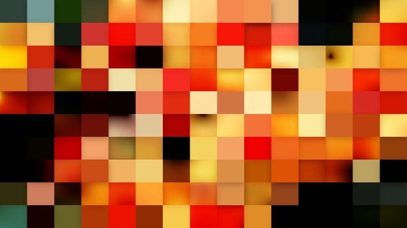 Orange Square Mosaic Background
