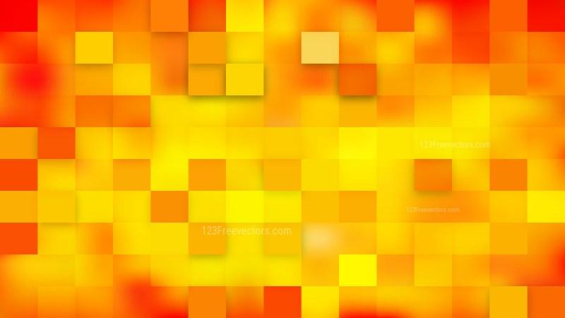 Orange Square Mosaic Tile Background