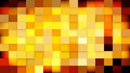 Orange and Black Geometric Mosaic Square Background