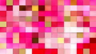 Abstract Pink Square Mosaic Background