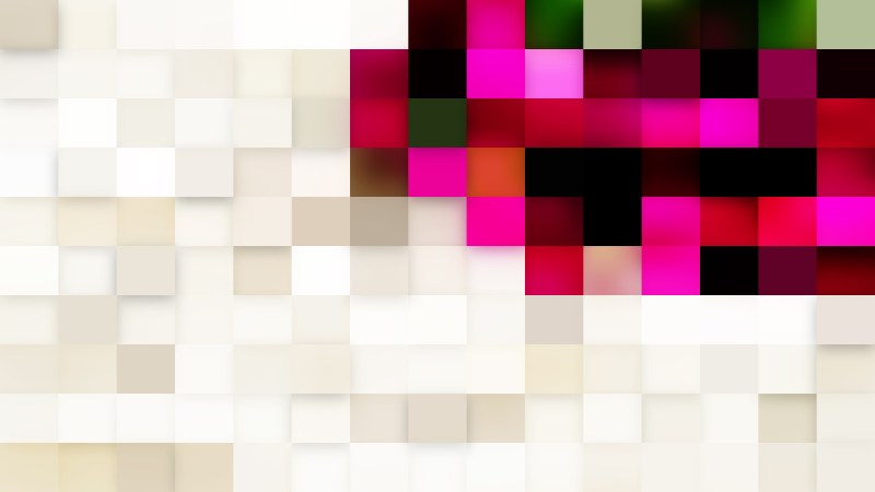 Pink and Beige Geometric Mosaic Square Background Design