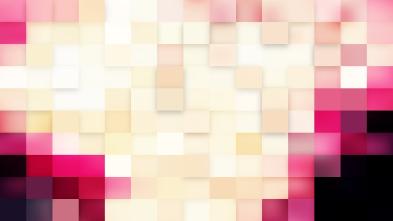Abstract Pink and Beige Square Mosaic Background Vector Graphic