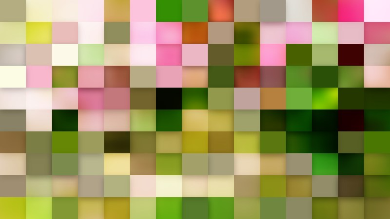 Abstract Pink and Green Square Mosaic Tile Background Vector Image
