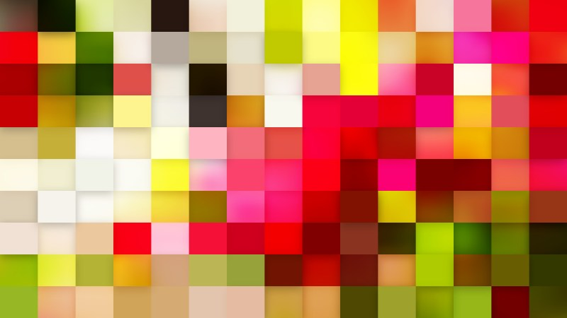 Abstract Pink and Green Geometric Mosaic Square Background Illustrator