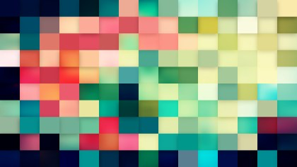 Abstract Pink and Green Square Pixel Mosaic Background Vector Illustration