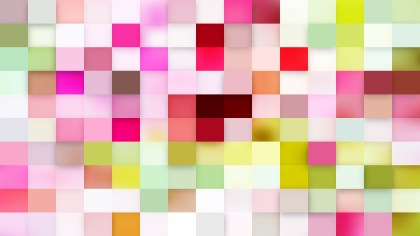 Pink and Green Square Mosaic Background