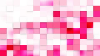 Pink and White Geometric Mosaic Square Background