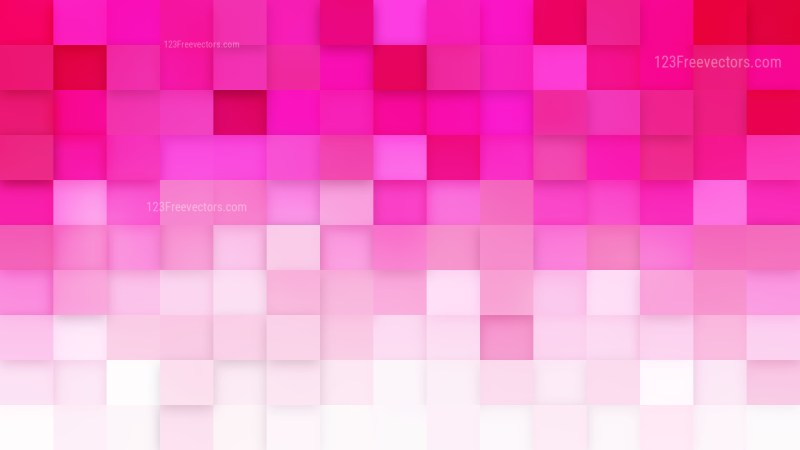 Pink and White Square Pixel Mosaic Background
