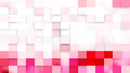 Abstract Pink and White Square Mosaic Background