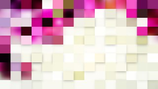 Abstract Pink and White Square Mosaic Tile Background
