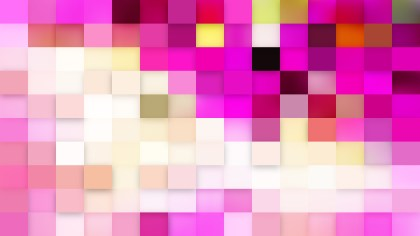Abstract Pink and White Geometric Mosaic Square Background