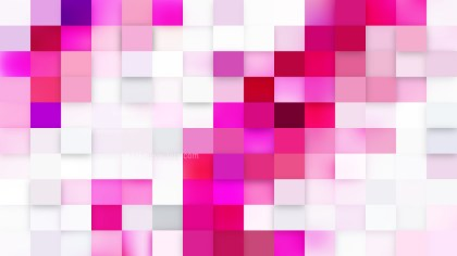 Abstract Pink and White Square Pixel Mosaic Background
