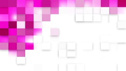 Pink and White Square Mosaic Background Illustrator