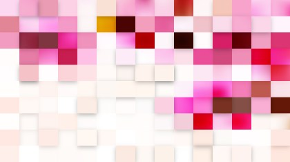 Pink and White Geometric Mosaic Square Background Vector