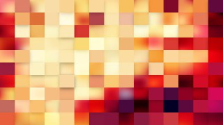 Abstract Pink and Yellow Square Mosaic Tile Background Illustration