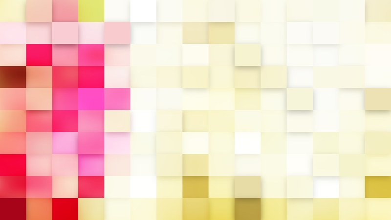 Abstract Pink and Yellow Geometric Mosaic Square Background Design