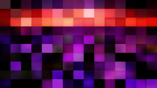 Abstract Purple and Black Square Pixel Mosaic Background Image