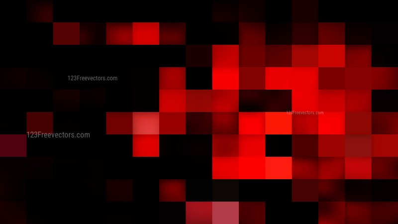 Cool Red Square Mosaic Background