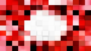 Red and White Square Mosaic Tile Background