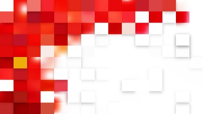Red and White Geometric Mosaic Square Background