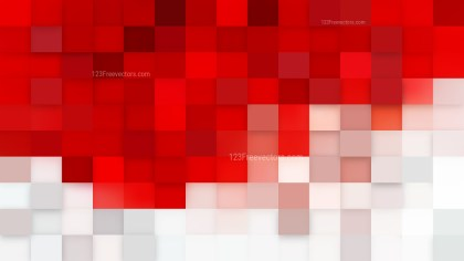 Red and White Square Pixel Mosaic Background