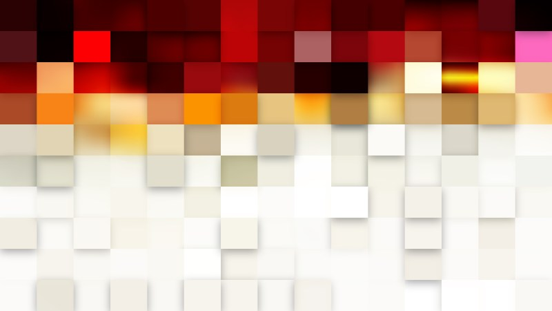 Abstract Red and White Square Mosaic Tile Background