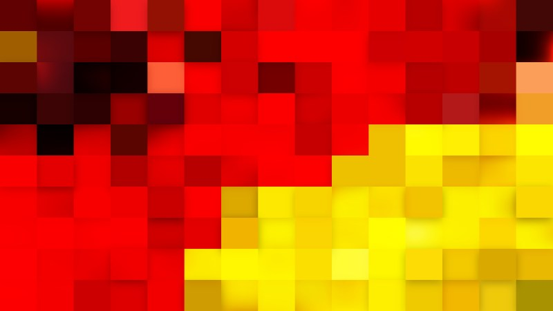 Abstract Red and Yellow Geometric Mosaic Square Background