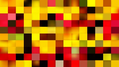 Abstract Red and Yellow Square Pixel Mosaic Background