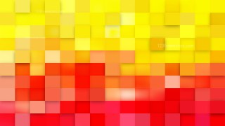 Red and Yellow Square Mosaic Background Design