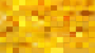 Abstract Yellow Square Mosaic Tile Background Vector Illustration
