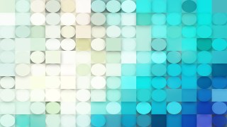 Beige and Turquoise Geometric Circles and Squares Background