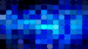 Cool Blue Circles and Squares Background Design