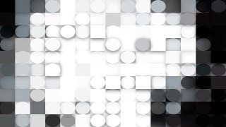 Abstract Black and White Geometric Circles and Squares Background Vector Image