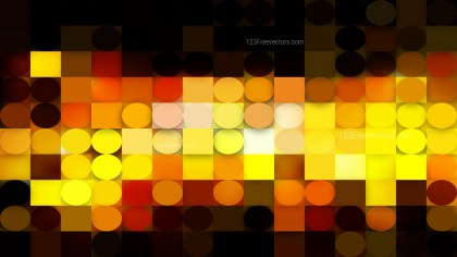 Black and Yellow Geometric Circles and Squares Background