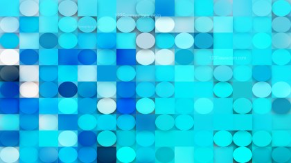 Abstract Blue Geometric Circles and Squares Background