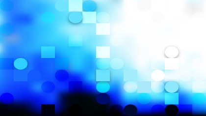 Abstract Blue and White Circles and Squares Background Design