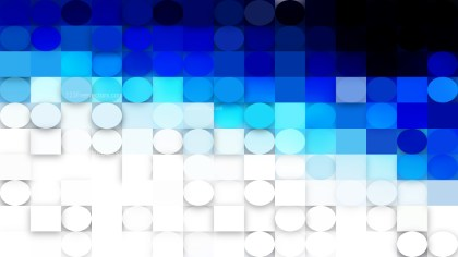 Blue and White Circles and Squares Background