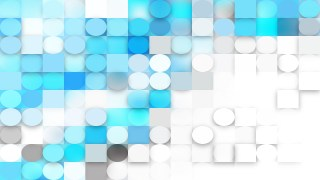 Abstract Blue and White Circles and Squares Background
