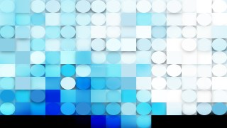 Abstract Blue and White Geometric Circles and Squares Background
