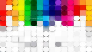 Colorful Geometric Circles and Squares Background Vector Art