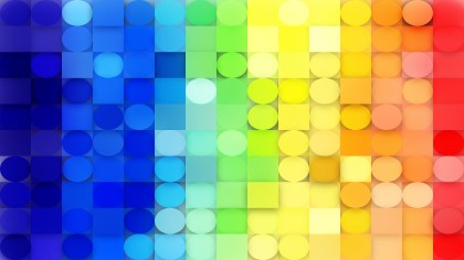 Abstract Colorful Circles and Squares Background Graphic