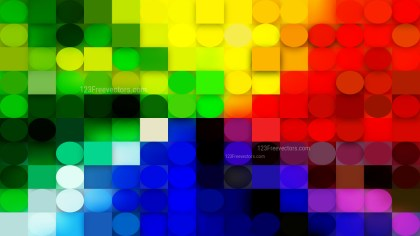 Colorful Geometric Circles and Squares Background