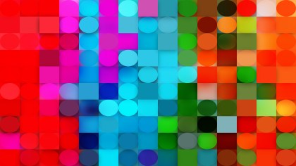 Colorful Circles and Squares Background