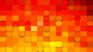 Abstract Red and Yellow Geometric Circles and Squares Background