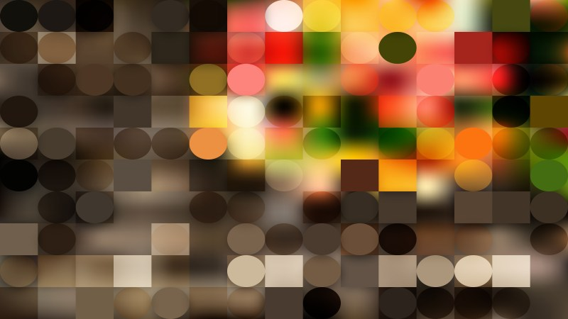 Dark Color Circles and Squares Background Vector Graphic